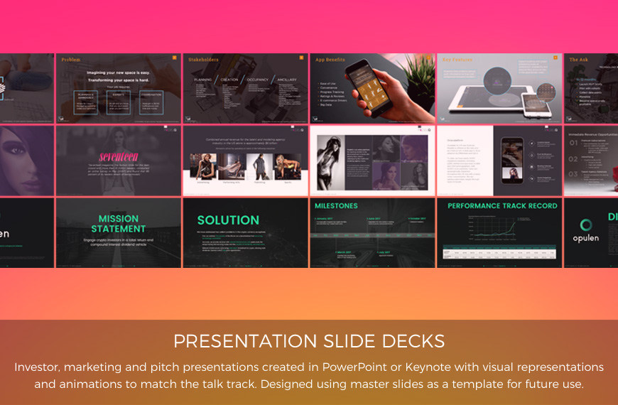 presentation slide decks